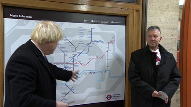 Boris Johnson reveals the Night Tube map
