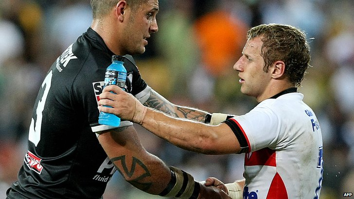 England's Rob Burrow after the 2008 World Cup defeat by New Zealand
