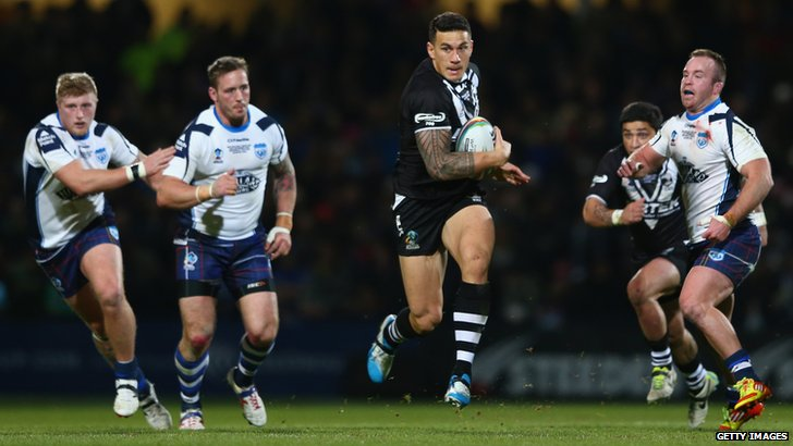 Sonny Bill Williams in action for New Zealand at the World Cup
