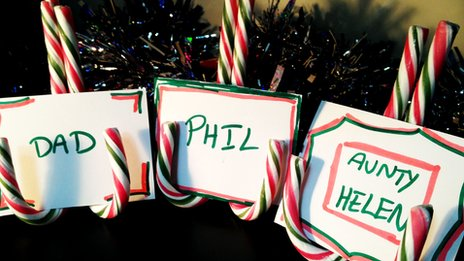 Candy cane place holders