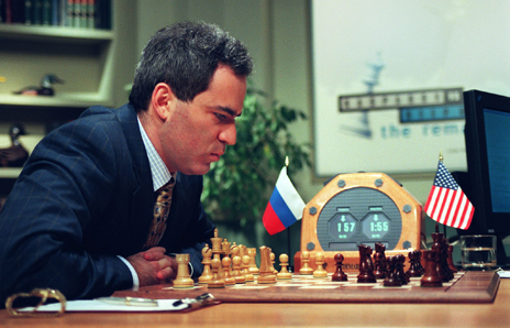gary kasparov playing the deep blue computer