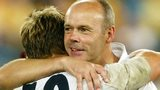 England player Jonny Wilkinson and coach Sir Clive Woodward
