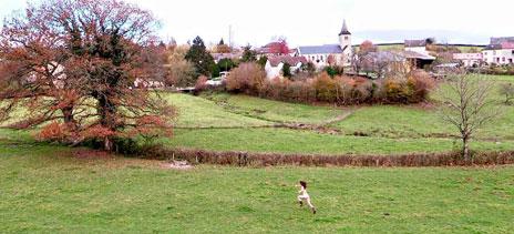 Doria Tillier running across a field