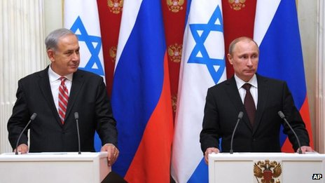 Benjamin Netanyahu (left, with Vladimir Putin), 20 Nov