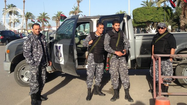 Men in the official security forces