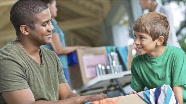 A child volunteering