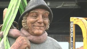Jolly Fisherman sculpture