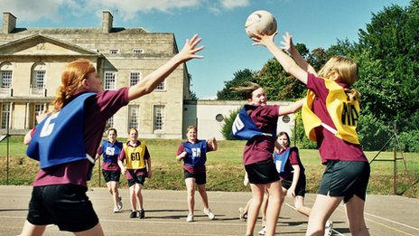 State boarders play netball