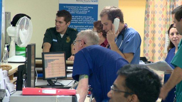 Staff at Barnsley hospital