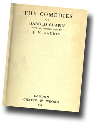 Harold Chapin comedies title page