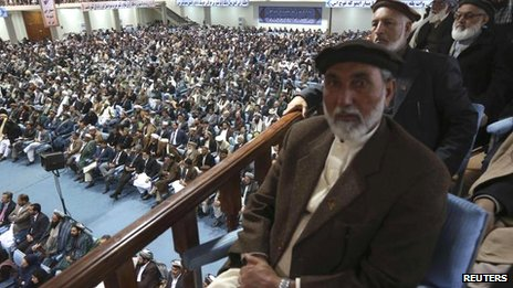 Delegates at the Loya Jirga, 21 Nov
