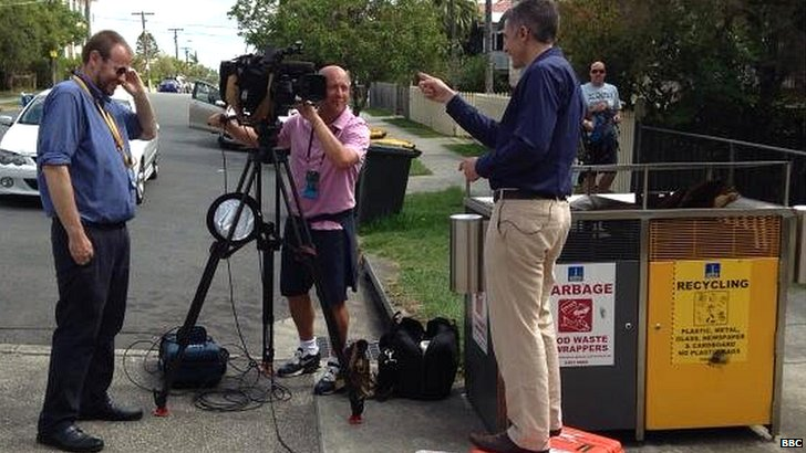 BBC reporter Joe Wilson