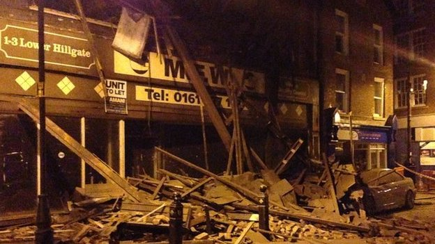 Building collapse in Stockport