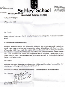 letter of resignation to parents from teacher