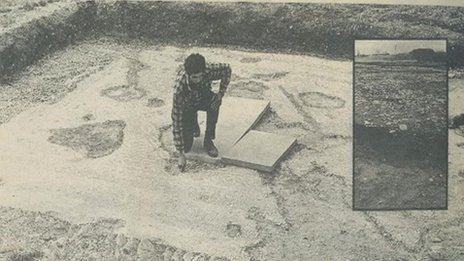 Archaeologist at dig