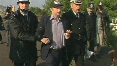 Arthur Scargill arrested at Orgreave