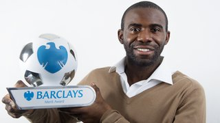 Muamba with the Merit Award