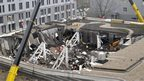 A view of collapsed Maxima supermarket in Riga, Latvia, Friday, Nov. 22, 2013