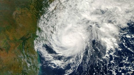 Satellite image of Cyclone Helen