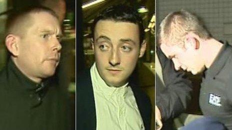 Thomas Kennedy, Damian Dobbin and Jozef Macpherson