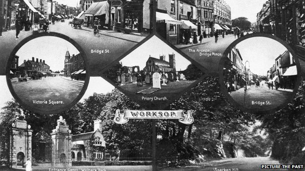 Postcard of Worksop