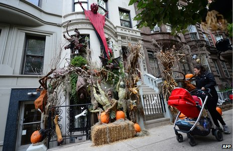 Halloween decorations in New York