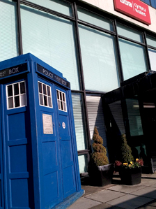 The Tardis outside BBC Wales
