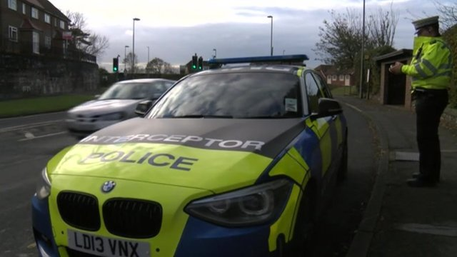 Sussex Police interceptor vehicle