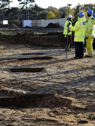 Dig site in Ipswich