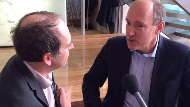 Tim Berners-Lee with Rory Cellan-Jones