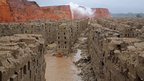 New bricks destroyed by rain in Western Cape province, South Africa - Saturday 16 November 2013