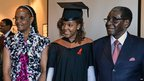 From left to right: Grace Mugabe, Bona Mugabe, Robert Mugabe at a MDIS-University of Wales graduation ceremony in Singapore - Saturday 16 November 2013