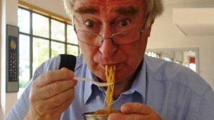 Peter Day tries the noodles