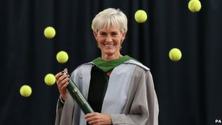 Judy Murray with doctorate