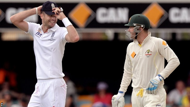 James Anderson and Michael Clarke
