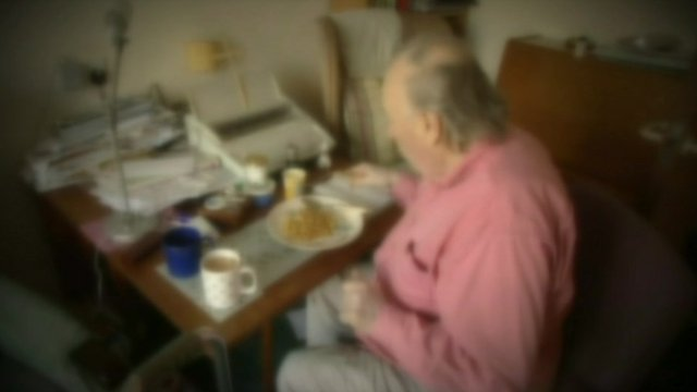 Man sat at table