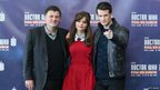 Steven Moffat, Jenna Coleman and Matt Smith