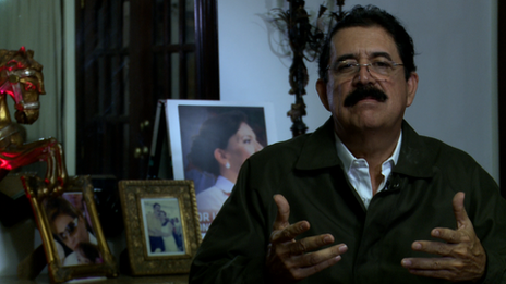 The former Honduran president, Mel Zelaya, who was ousted in 2009