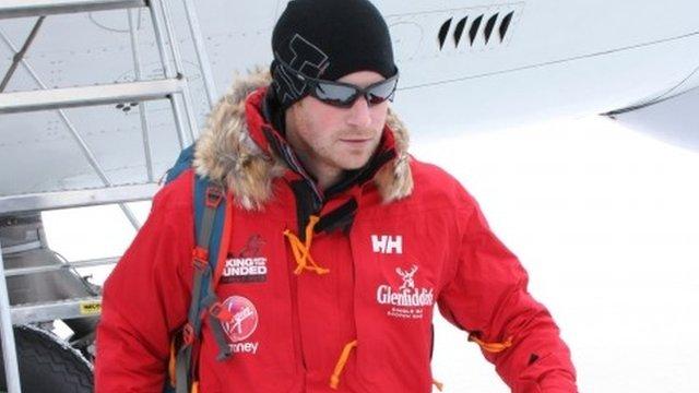 Prince Harry arrives in Antarctica