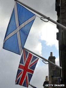 British and Scottish flags