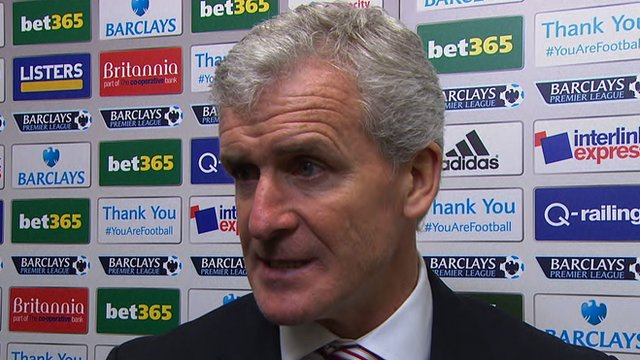 Stoke manager, Mark Hughes