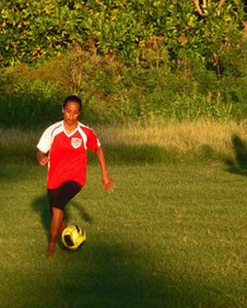 Football Player in Tuvalu
