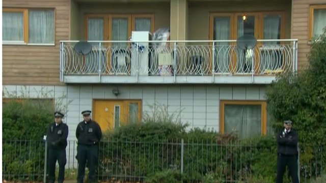 Police outside property