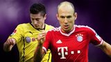 Robert Lewandowski and Arjen Robben