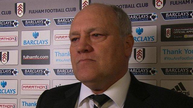 Fulham manager Martin Jol