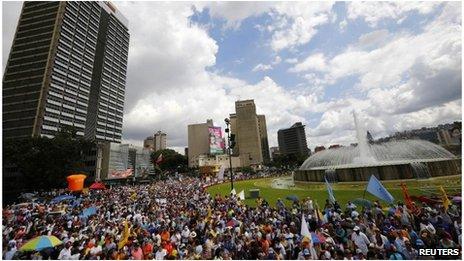 Opposition protest in Caracas, Venezuela