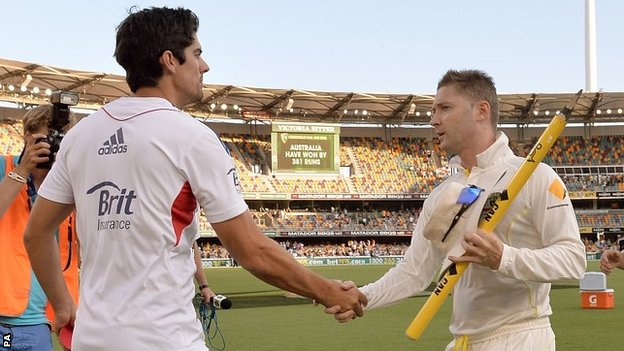 Alastair Cook & Michael Clarke