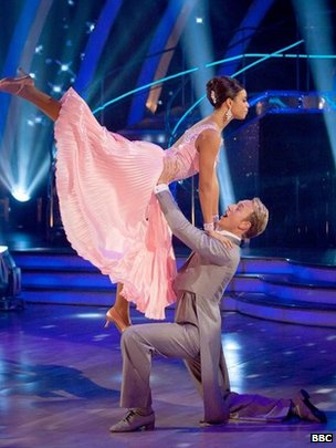 Rochelle Humes (then Rochelle Wiseman) in Strictly