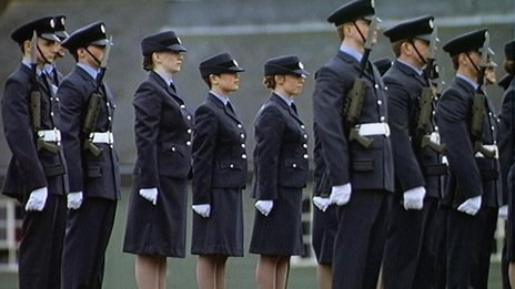 RAF servicemen and women on parade
