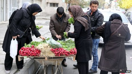 Vegetable stall in Tehran (24/11/13)